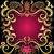 purple gold vintage valentine frame stock photo © olgadrozd