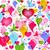 valentine · padrão · corações · aves · textura · sorrir - foto stock © olgadrozd