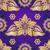 virágmintás · ibolya · végtelen · minta · klasszikus · virágok · arany - stock fotó © olgadrozd