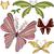 conjunto · colorido · borboletas · branco · ilustração · natureza - foto stock © olgadrozd