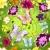 sin · costura · floral · patrón · mariposas · verde · oro - foto stock © olgadrozd