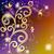 vintage · quadro · roxo · ouro · flores · vetor - foto stock © olgadrozd