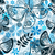 blu · nero · senza · soluzione · di · continuità · abstract · floreale · pattern - foto d'archivio © olgadrozd