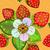rosa · pattern · fragola · foglie · fiori - foto d'archivio © olgadrozd