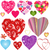 collection colorful valentine hearts stock photo © olgadrozd