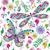 sem · costura · valentine · padrão · colorido · vintage · borboletas - foto stock © olgadrozd