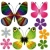 set abstract butterflies and flowers stock photo © olgadrozd