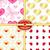 set seamless valentine patterns stock photo © olgadrozd