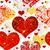 minta · arany · piros · szívek · dekoratív · ünnepi - stock fotó © olgadrozd