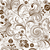repeating white brown floral pattern stock photo © olgadrozd