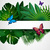 tropical leaves with butterflies floral design background stock photo © olgayakovenko