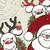 christmas background with funny reindeers and santa claus stock photo © olgayakovenko