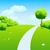 vektör · çayır · su · bahar · yeşil · renk - stok fotoğraf © olgayakovenko