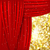 holiday background with red satin and golden light stock photo © olgayakovenko