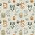 seamless pattern with various owls on a neutral background stock photo © olgayakovenko