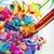 abstract mixed background stock photo © olgayakovenko