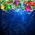 blue christmas background with bright christmas tree balls stock photo © olgayakovenko