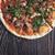 pizza · salame · cogumelos · madeira · saúde - foto stock © olira