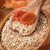 燕麦 · ガラス · ボウル · 木製のテーブル · バナナ - ストックフォト © olira