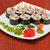 roll with smoked eel and salmon stock photo © olira