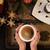 fincan · kahve · sıcak · Noel · ışıklar · tablo - stok fotoğraf © olira