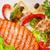 лосося · стейк · барбекю · приготовления · огня · ресторан - Сток-фото © olira