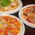 Italiaans · pizza · spek · salami · mozzarella · kaas - stockfoto © olira