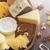 チーズ · セット · ブドウ · ナッツ · スペース - ストックフォト © olira