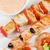 grilled salmon and shrimps stock photo © olira