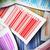 papír · címke · vonalkód · matrica · fehér · textúra - stock fotó © olivier_le_moal