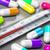 antibiotico · pillole · termometro · bottiglia · salute · ospedale - foto d'archivio © olivier_le_moal