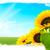 ヒマワリ · 緑 · 草原 · 青空 · 空 · 草 - ストックフォト © olivier_le_moal