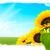 landscape   sunflowers green land blue sky stock photo © olivier_le_moal