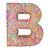 alphabet symbol letter b composed of colorful striplines stock photo © oneo