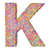 alphabet symbol letter k composed of colorful striplines stock photo © oneo