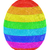 easter egg composed of layers of colorful lines on white stock photo © oneo