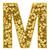 letra · m · dourado · estrelas · isolado · branco · alto - foto stock © oneo