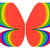 butterfly shape symbol of rainbow colors on white stock photo © oneo