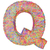 alphabet symbol letter q composed of colorful striplines stock photo © oneo