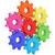 coloré · engins · puzzle · roue · blanche · couple - photo stock © oneo