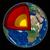 земле · ядро · черный · огня · карта · Мир - Сток-фото © oorka