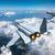 3D · repülés · fölött · felhők · 3d · render · égbolt - stock fotó © oorka