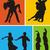 balançar · dançarinos · retro · casal · dança · abstrato - foto stock © oorka