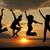 atlama · gün · batımı · siluet · kadın · güneş · spor - stok fotoğraf © oorka