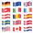 set of swung country flags stock photo © opicobello
