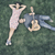 vrouw · spelen · gitaar · vriendje · park · muziek - stockfoto © orla
