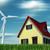 rüzgâr · türbin · elektrik · jeneratör · ayakta · mavi · gökyüzü - stok fotoğraf © orla
