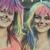 meisje · creatieve · make · halloween · kerker · jonge · vrouw - stockfoto © orla