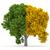 drzewo · pozostawia · 3d · odizolowany · biały · krajobraz - zdjęcia stock © orla