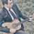 fiatalember · fiú · játszik · mező · égbolt · tavasz - stock fotó © orla